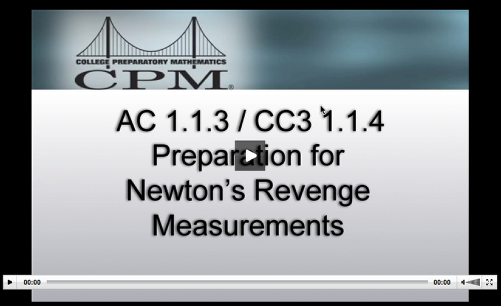 This video describes the preparation needed to set up Newton's Revenge activity.