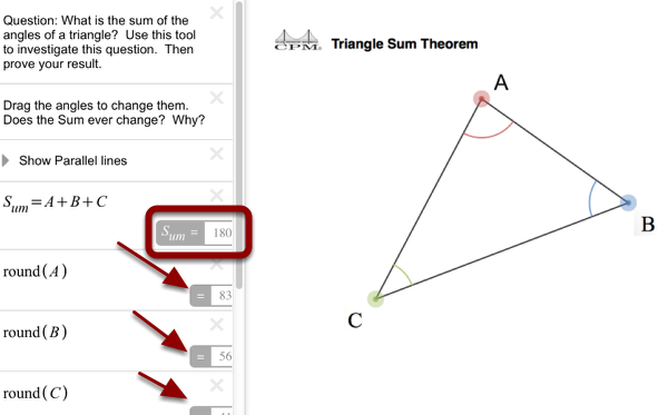 Triangle Sum Theorem: