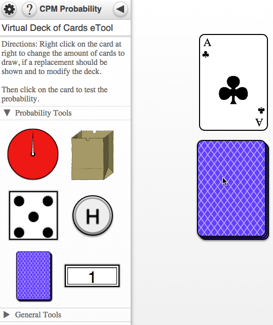Click the card to test the probability.