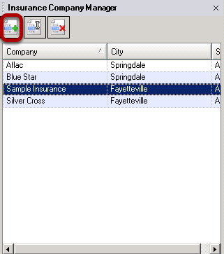 Creating/Editing/Removing Insurance Companies in Insurance Company Manger