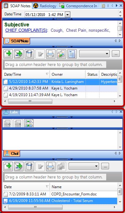 Add a Horizontal Separator to a Chart Layout