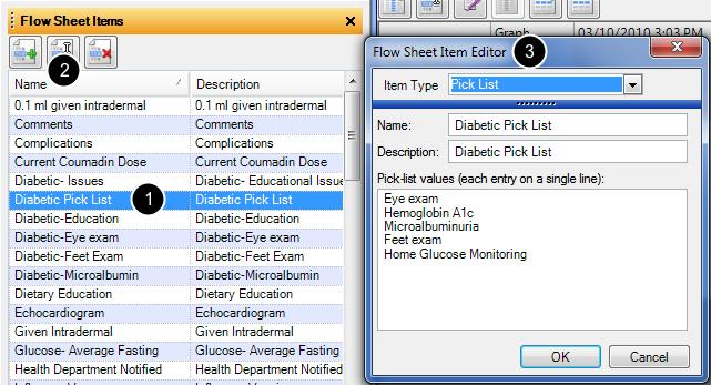 Editing an Existing Flow Sheet Item