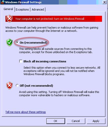 Navigating To Windows Firewall