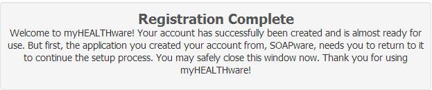 3. Registration Complete