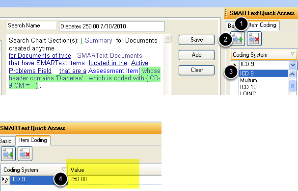 Item Coding Tab (optional)
