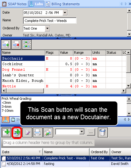 Scanning Into SOAPware as a New Docutainer