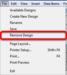 Deleting a Document Design