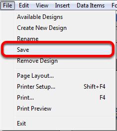 Saving a Document Design