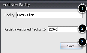 -Select a Facility