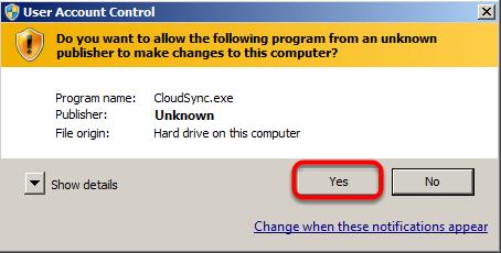 Run CloudSync