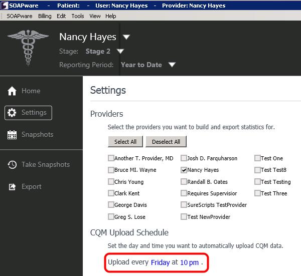 Step 4: Edit your CQM Upload Schedule