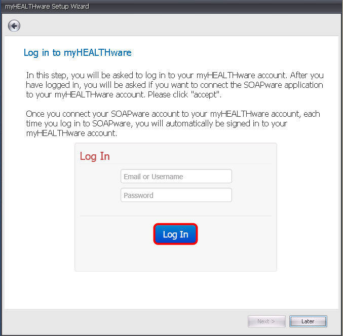 3. Log In to myHEALTHware