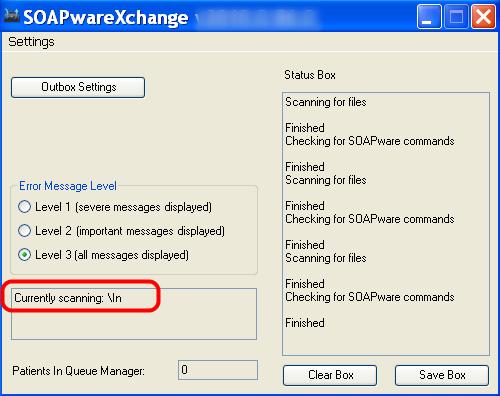 Set the Xchange folders