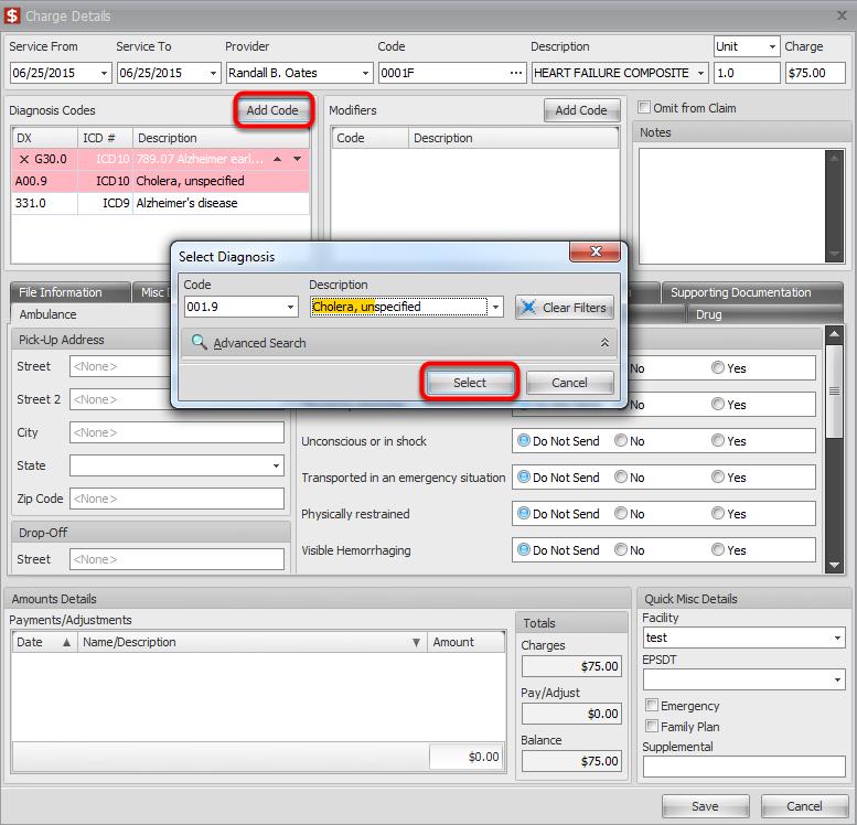 Select correct ICD 9 code(s)