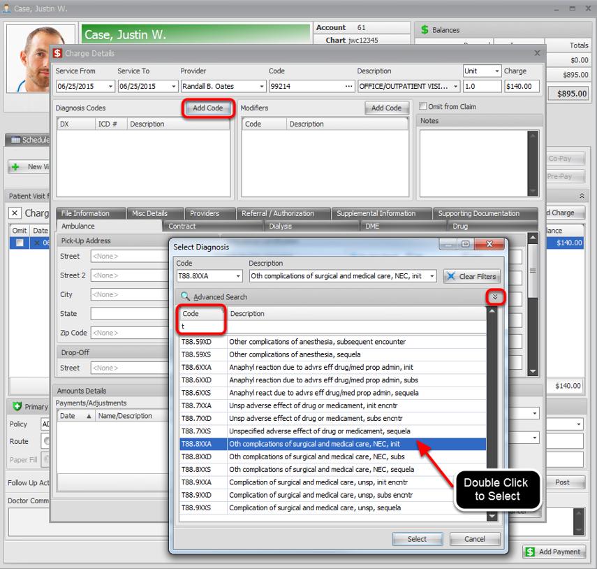 Select ICD-10 Codes