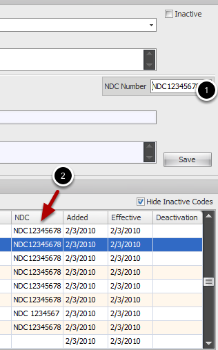 Assign NDC Number to specific HCPCS