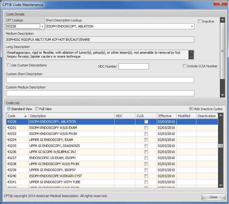 PM Code Database Update (Clinical Suite Only)
