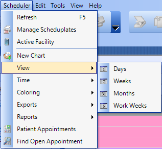 Select the appropriate Schedule View.