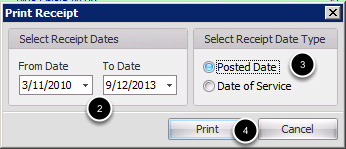 Select Receipt dates
