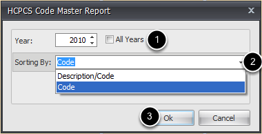 HCPCS Master Options
