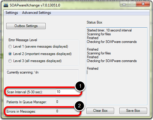 SOAPwareXchange Scan Interval and Error Handling