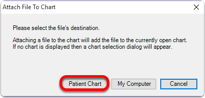 Choose the Patient Chart