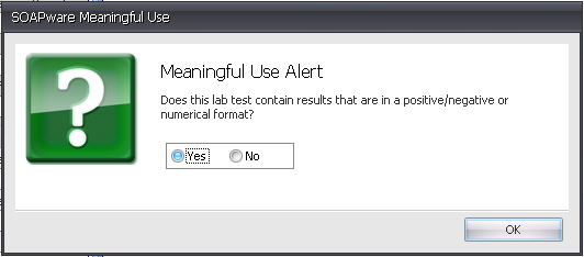 Modification to Clinic Lab Test Results MU Alert