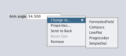 Choose the new widget type