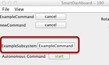 Displaying the status of a subsystem