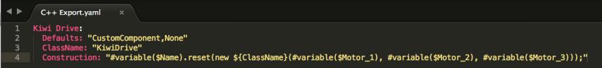 C++ Export.yaml