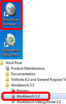 Launching WindRiver Workbench