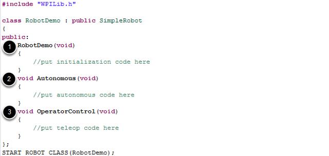 The default SimpleRobot template project