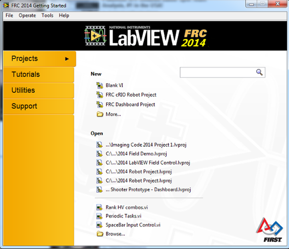 LabVIEW FRC 2014