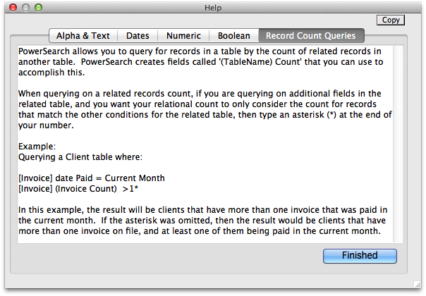 Record Count Queries