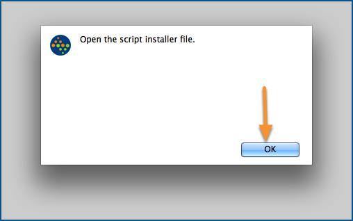 Open the script installer file.