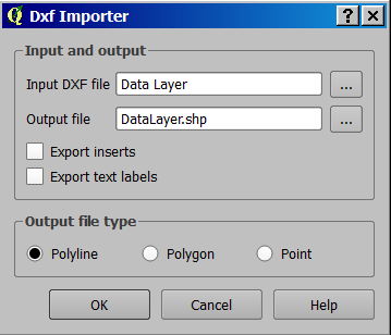 Import DXF file