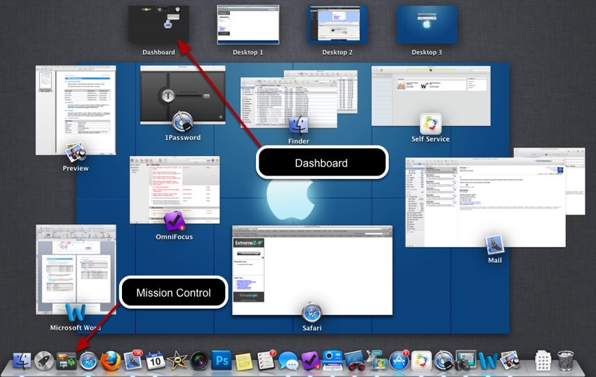 Step 1. Go to the Mac Dashboard