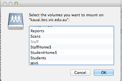 Select and Add Network Drive (Share)