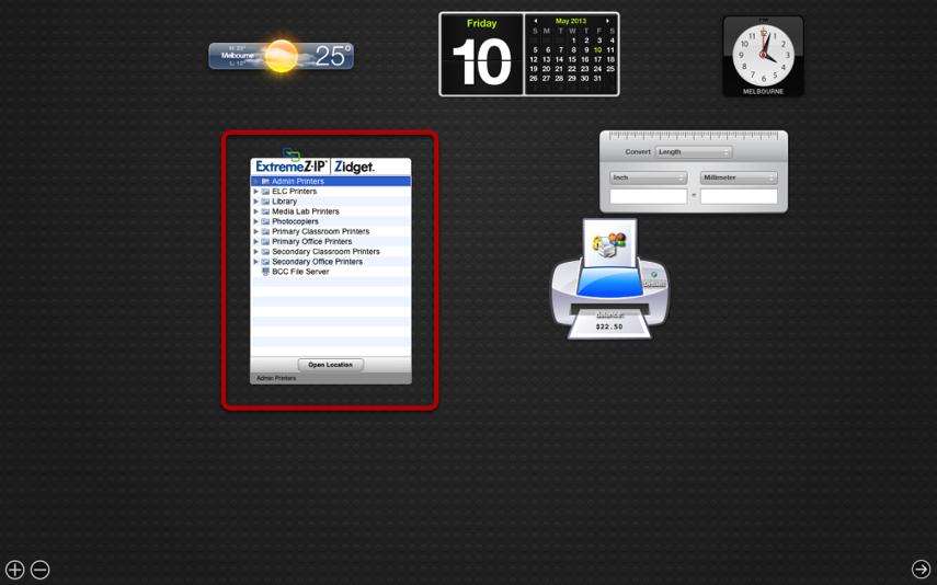 ExtremeZ-IP Widget