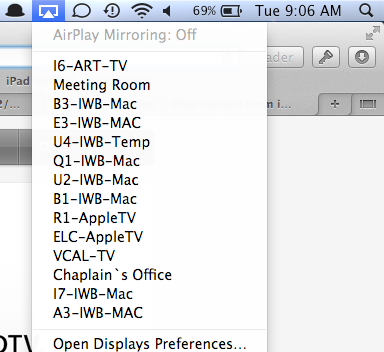 Using AirPlay on a MacBook (Air or Pro)