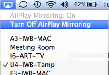 Turn off AirPlay Mirroring