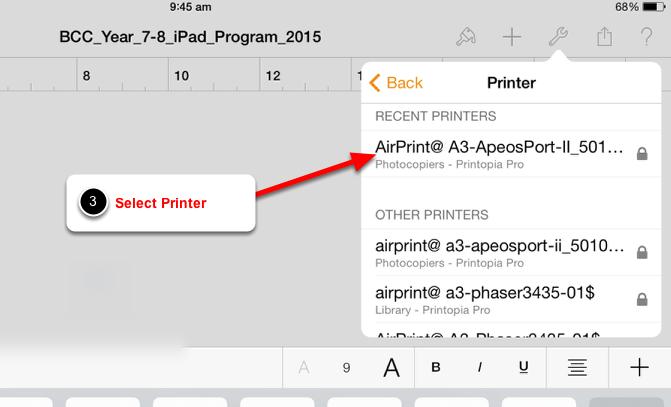 Select a Printer