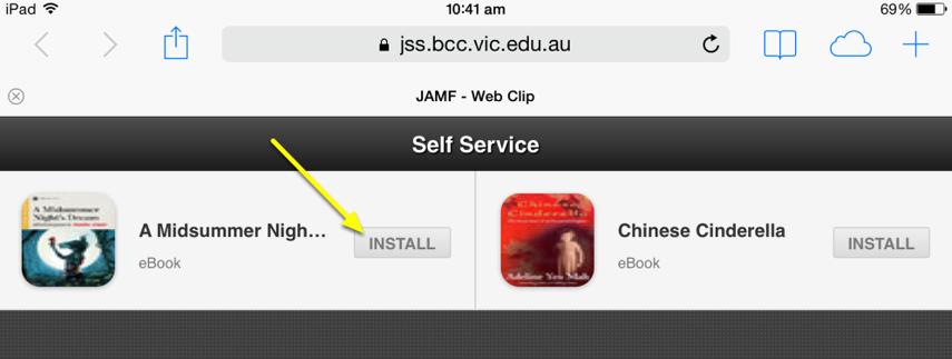 Install an eBook
