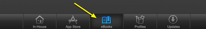 "Click the ""eBooks"" tab in Self Service"