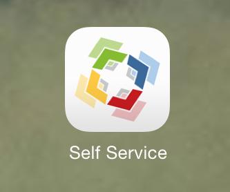 Open the Self Service App