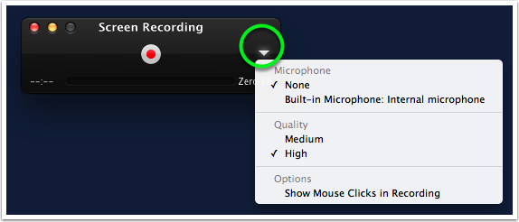 Changing Recording Settings