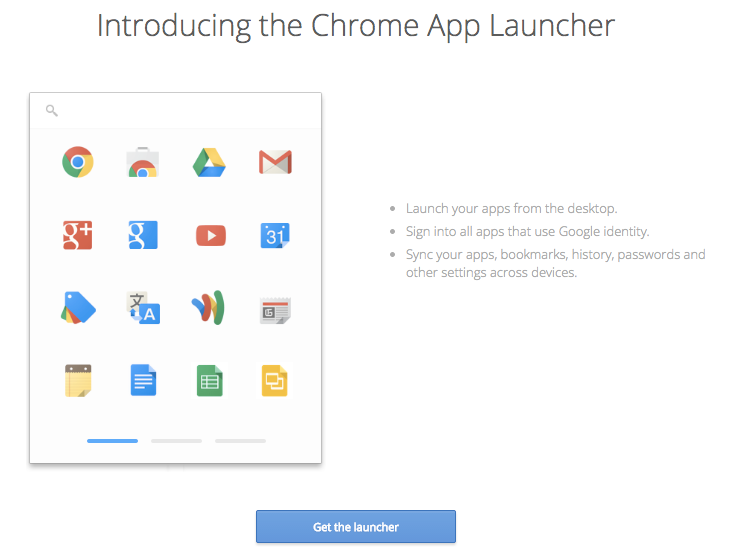 Go to Chrome App Launcher Page