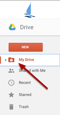 """1. Go to """"My Drive"""""""