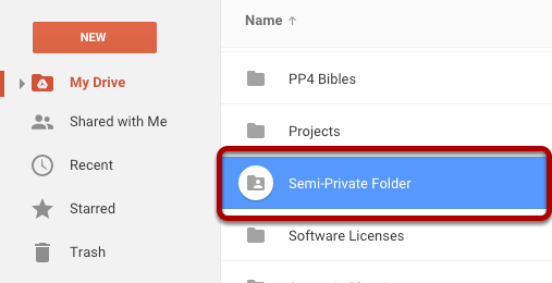 4. Select the Folder in Google Drive