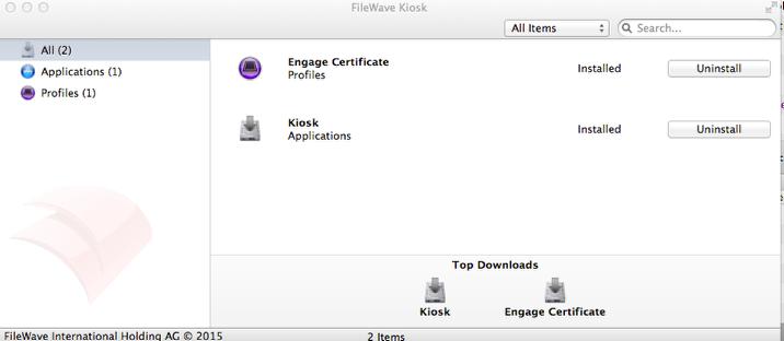 FileWave Kiosk Application